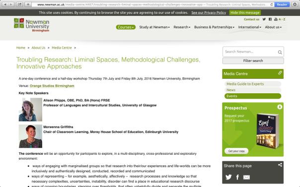 Liminal spaces...